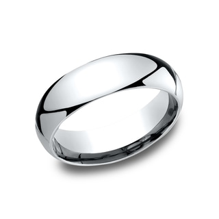 6 mm Traditional Domed Profile Comfort Fit Wedding Band