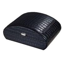Visol Blake Crocodile Pattern Black Leather Humidor