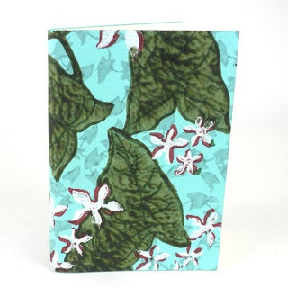 Handmade Blue Lily Soft Cover Journal - Sustainable Threads (India)