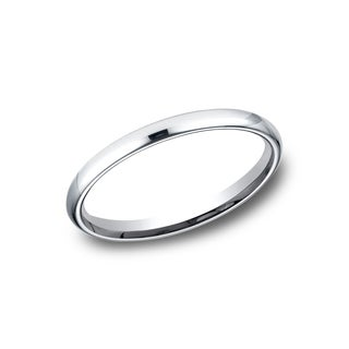 Mens Platinum 2.5mm Comfort-fit Traditional Wedding Band