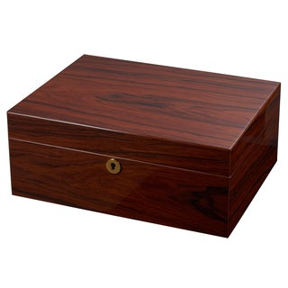 Visol Hagan Polished Oak Locking Humidor