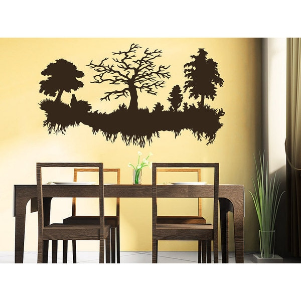 Shop Trees Roots Wall Decal Forest Landscape Nature Vinyl