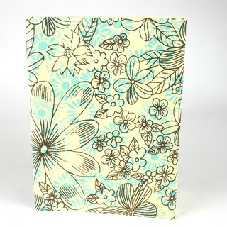 Handmade Blue Sky Floral Soft Cover Journal - Sustainable Threads (India)