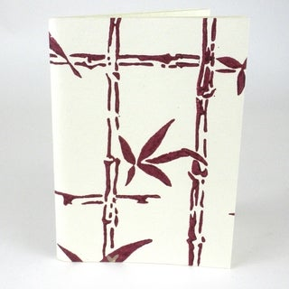 Handmade Wine Bamboo Soft Cover Journal - Sustainable Threads (India)