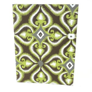 Handmade Green Illusion Soft Cover Journal - Sustainable Threads (India)