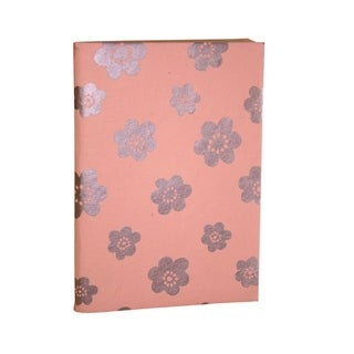 Handmade Peach Flower Soft Cover Journal - Sustainable Threads (India)