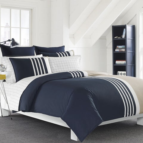 Nautica Aport Navy Cotton Comforter Set