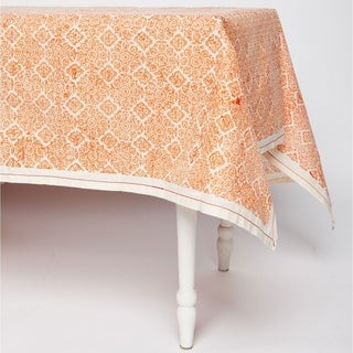 Handmade Copper Illusion 90 x 60 Tablecloth - Sustainable Threads (India)