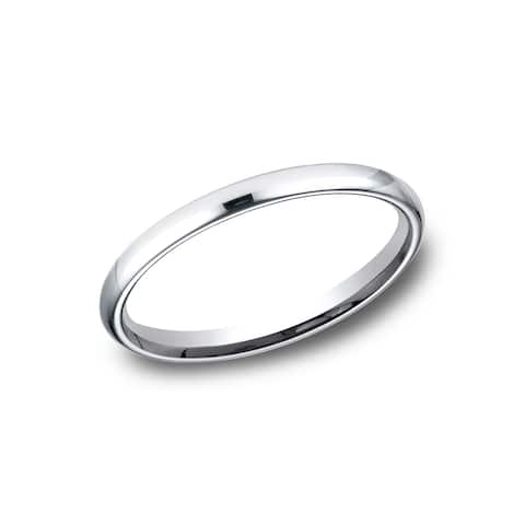 Women's Platinum Comfort-fit Traditional Wedding Band