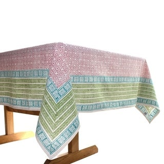 Handmade Red Floral 60 x 60 Tablecloth - Sustainable Threads (India)