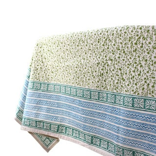 Handmade Green Field 60 x 60 Tablecloth - Sustainable Threads (India)