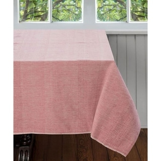 Handmade Pale Coral 90 x 60 Tablecloth - Sustainable Threads (India)