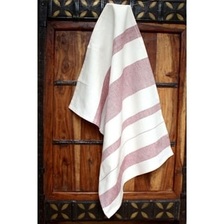 Red Stripes Cotton Kitchen Towel - Sustainable Threads (India)