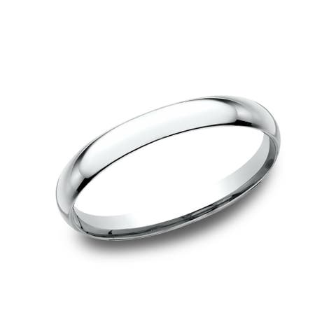 Mens 2mm Platinum Comfort-Fit Traditional Wedding Band