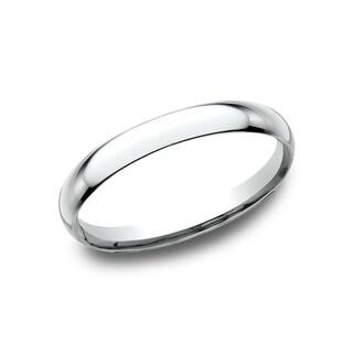 Mens 2 mm Platinum Comfort-Fit Traditional Wedding Band