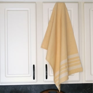 Pale Yellow Cotton Kitchen Towel - Sustainable Threads (India)