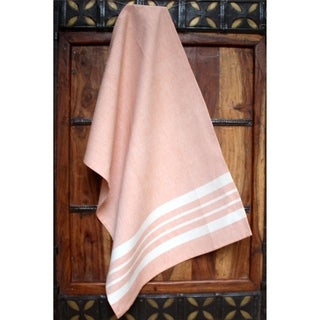 Peach Cotton Kitchen Towel - Sustainable Threads (India)