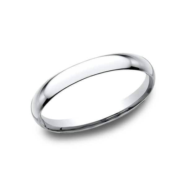 Platinum 2mm Domed Comfort Fit Wedding Band