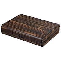 Visol Jerrod Exotic Ebony Cigar Humidor Gift Set