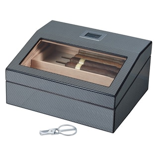 Visol Darnell Polished Carbon Fiber Pattern Humidor|https://ak1.ostkcdn.com/images/products/14199106/P20794524.jpg?impolicy=medium