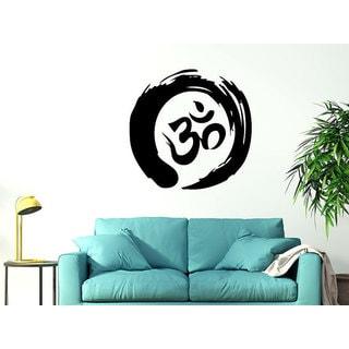 Zen Circle Om Symbol Buddhism Enso Meditation Yoga Sticker Decal size 33x33 Color Black