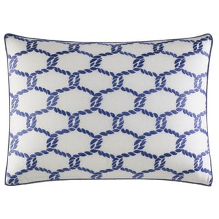 "Nautica Cunningham Blue Cotton Blend 14"" x 20"" Breakfast Pillow"