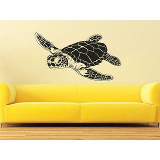 Sea Turtle Ocean Animals Interior Home Decor Bathroom Bedroom Sticker Decal size 33x39 Color Black