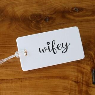 Wifey Plastic Luggage Tag