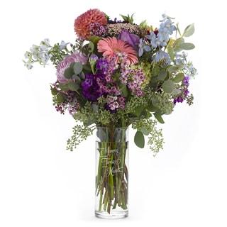 Hortense B. Hewitt Loving Memories Clear Glass Cylinder Vase