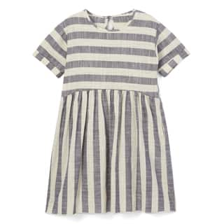 Spicy Mix Girls' Dalary Cotton Linen Striped Dress with Pockets|https://ak1.ostkcdn.com/images/products/14199602/P20794962.jpg?impolicy=medium