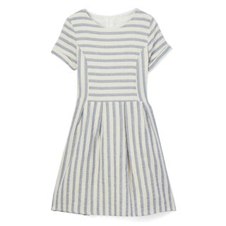 Spicy Mix Girls' Livvy Cotton Striped Linen Dress