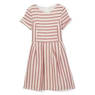 Spicy Mix Girls' Livvy Cotton Striped Linen Dress