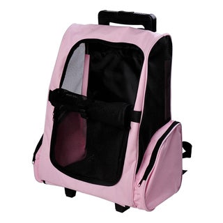 Pawhut Pet Carrier Wheeled Dog Backpack