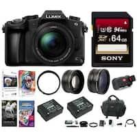 Panasonic LUMIX DMC-G85MK 4K Mirrorless Lens Camera Kit,12-60mm Lens + 64GB Kit