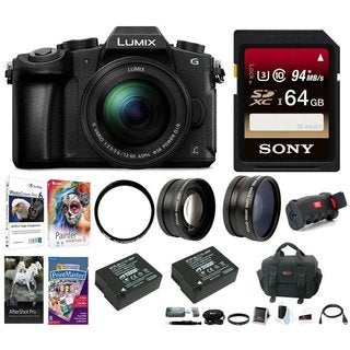 Panasonic LUMIX DMC-G85MK 4K Mirrorless Lens Camera Kit,12-60mm Lens + 64GB Kit