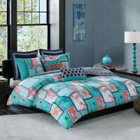 Josie by Natori Mix and Match Multi 250TC Cotton Printed Reversible Comforter Mini Set