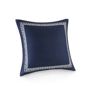 Josie by Natori Mix and Match Multi Cotton Euro Sham with Embroidery