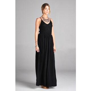 Spicy Mix Women's Edrei Lace Bodice and Crinkle Gauze Bottom Maxi Dress