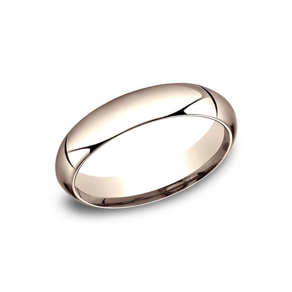 14k Rose Gold 5mm High-domed Comfort-fit Wedding Band - 14K Rose Gold - 14K Rose Gold. Opens flyout.