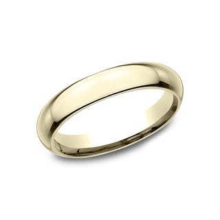14k Yellow Gold Domed Comfort-fit Wedding Band