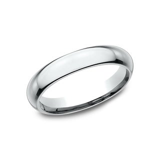 Men's 4 mm 14K White Gold High Domed Comfort-Fit Traditional Wedding Band