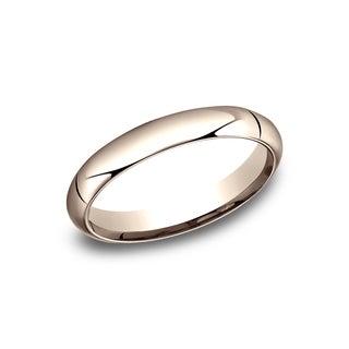 14k Rose Gold 4-millimeter High-domed Comfort-fit Women's Wedding Band - 14K Rose Gold