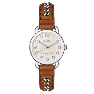 Coach Women's Delancy 14502258 Leather Watch