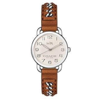 Coach Women's Delancy 14502258 Leather Watch