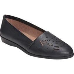Women's A2 by Aerosoles Trend Right Loafer Black Faux Leather