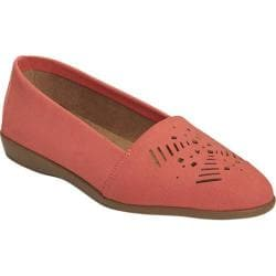 Women's A2 by Aerosoles Trend Right Loafer Coral Faux Suede