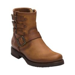 Women's Frye Veronica Belted Short Boot Cognac Rugged Leather