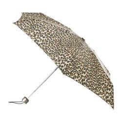 totes Titan Mini Manual NeverWet Umbrella Leopard Spot