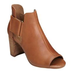 Women's Aerosoles High Fashion Bootie Dark Tan Leather