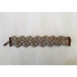 Khaki Braided Jute Boho Bracelet